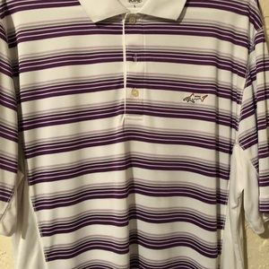 Greg Norman classic golf polo multi stripe